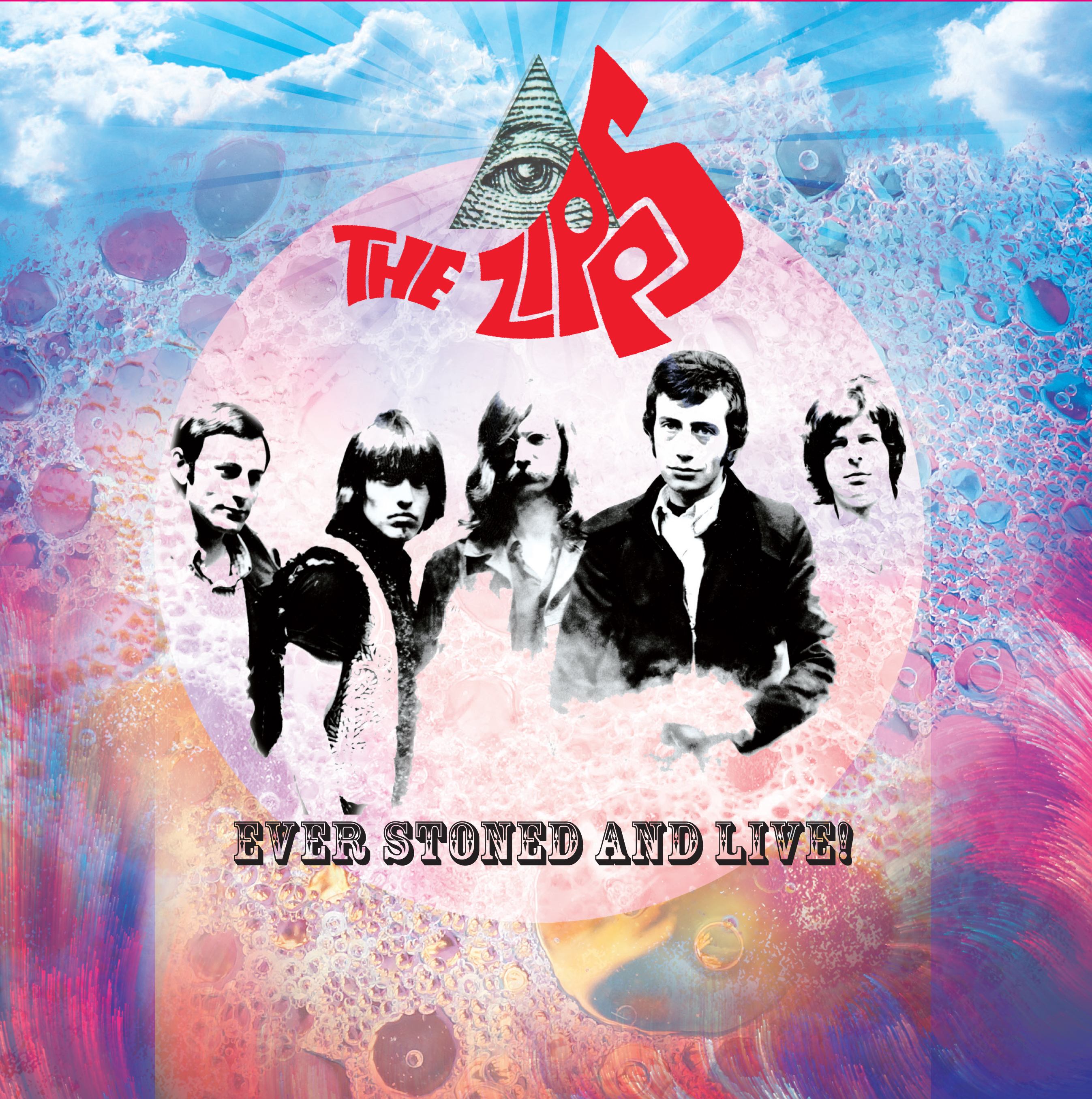 THE  ZIPPS Ever Stoned & Live Rare Vinyl LP